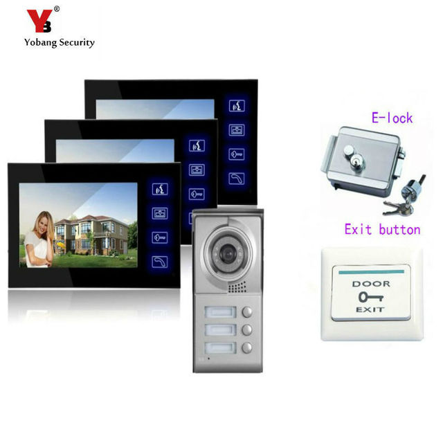 Yobang Security 7 Hot Apartment Building Video Doorbell Phone Conversational System Villa Entry