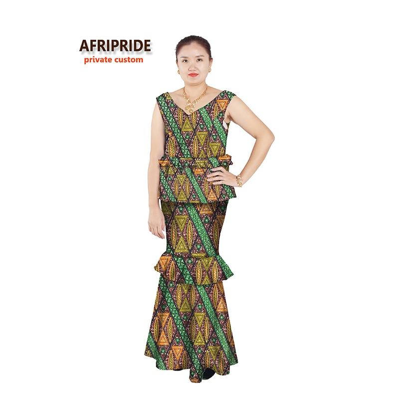 Vestidos africanos para mujeres estilos sexy ropa femenina africana trajes vestido de fiesta clásico sin mangas con cuello en V más el tamaño A622502
