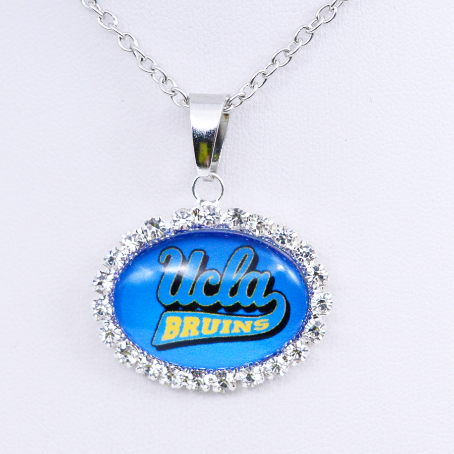 Necklace NCAA <font><b>UCLA</b></font> Bruins Charm Pendant University Football Jewelry for Women Gifts Party Birthday Wholesale 2018 image
