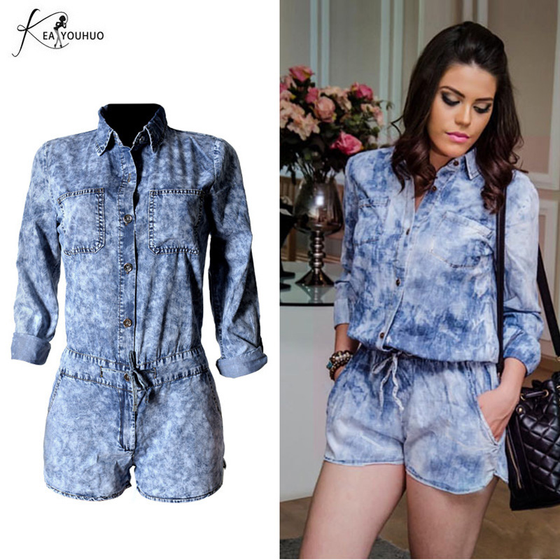 New 2018 Summer Casual Loose Vintage Jumpsuits Jeans