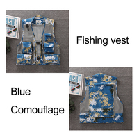 3pcs New Men Light Weight Outdoor Drying Vest Fishing Climbing Vest Multi Pockets Loose Style Breathable