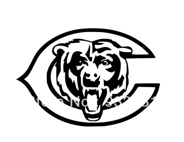 Pcslot Chicago Bears Vinyl Auto Car Window Stickers Poster Wall - Window stickers for cars chicago