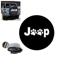 Dog Paws Spare Tire Cover For Jeep Wrangler JK Sports Sahara Rubicon X Unlimited 2 4