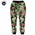 2017 nuevo hip hop hombres pantalones de las mujeres florales pantalones joggers pantalones de chándal pantalones pantalones de chándal de impresión 3d flor ropa