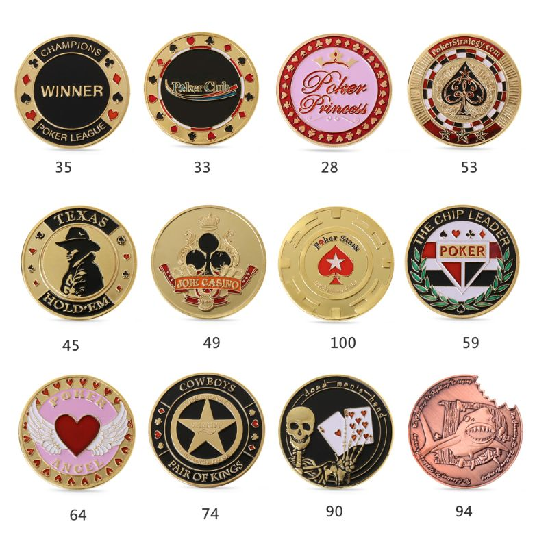 1pc Metal Banker Press Card Poker Chips Texas Hold'em Souvenir Commemorative Coins Save 50-70%