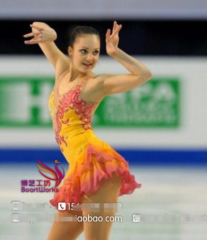 Желтый катание на коньках одежда для женщин конкуренция катание одежда для девочек пользовательские катание одежда для девочек бесплатная доставка