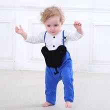 Весенняя одежда для маленьких мальчиков 0 24 месяцев комбинезоны