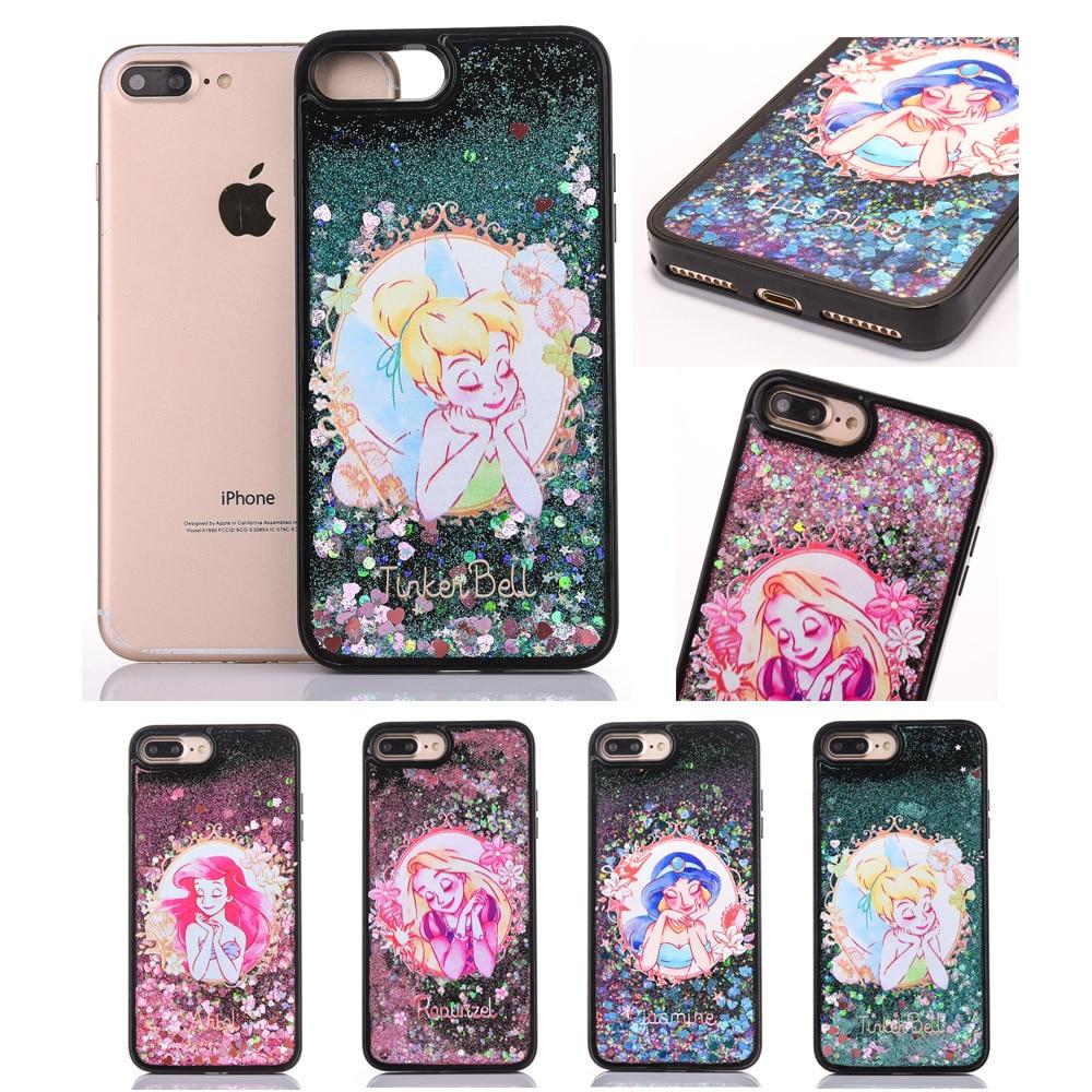Мультфильм милой принцессы динамичный, жидкий песок Мягкие TPU чехол для телефона для IPHONE XS X 8 7 6 6 PLUS 6SP 7 PLUS 8 PLUS задняя крышка