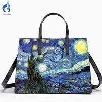 Gamystye 2018 New Graffiti totes design bags hand paint skull handbags Women bags Genuine leather shoulder bag