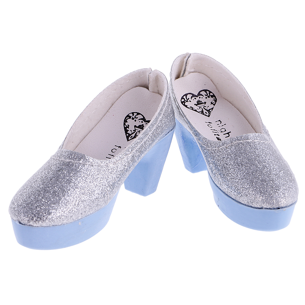 Fashion Dolls Acessories PU Leather Crystal High Heels Princess Shoes for 1/3 SD LUTS Dolls Girl Gift Toy Collect 1:3 BJD Shoes ...
