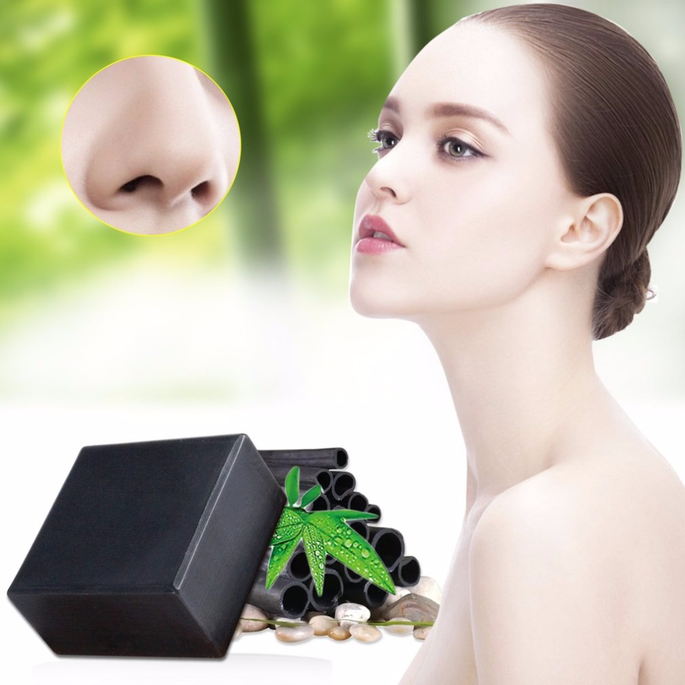Bamboo Charcoal Handmade Soap Face Mask Clean Body Shower Treat Blackhead Remover Deep Purifying Peel Off Facial Face Soap