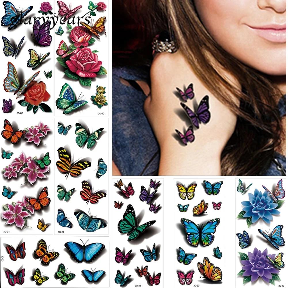 Bloem tattoo vlinder sva.wistron.com: Vlinder