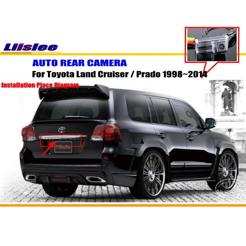 liislee car rear camera for toyota land cruiser prado no spare wheel on back door back. Black Bedroom Furniture Sets. Home Design Ideas