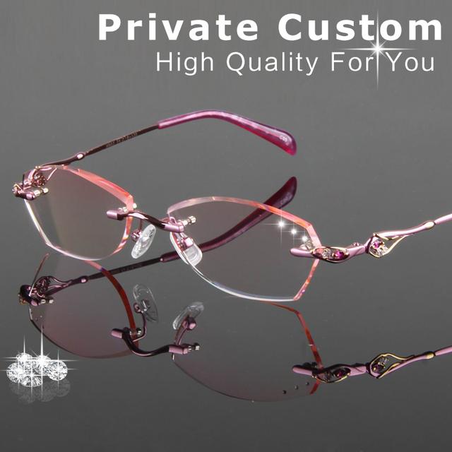 Excelente Qualidade de corte de Diamante mulheres óculos Óculos moda lente clara óculos Anti-fadiga de Leitura Óculos Para Presbiopia 705