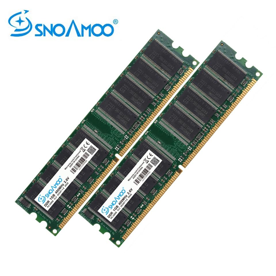 SNOAMOO Desktop PC RAMs DDR 333MHz 1GB RAM PC-2700U DDR1 400MHz DIMM Non-ECC Computer 184Pin Desktop Memory Lifetime Warrant цены