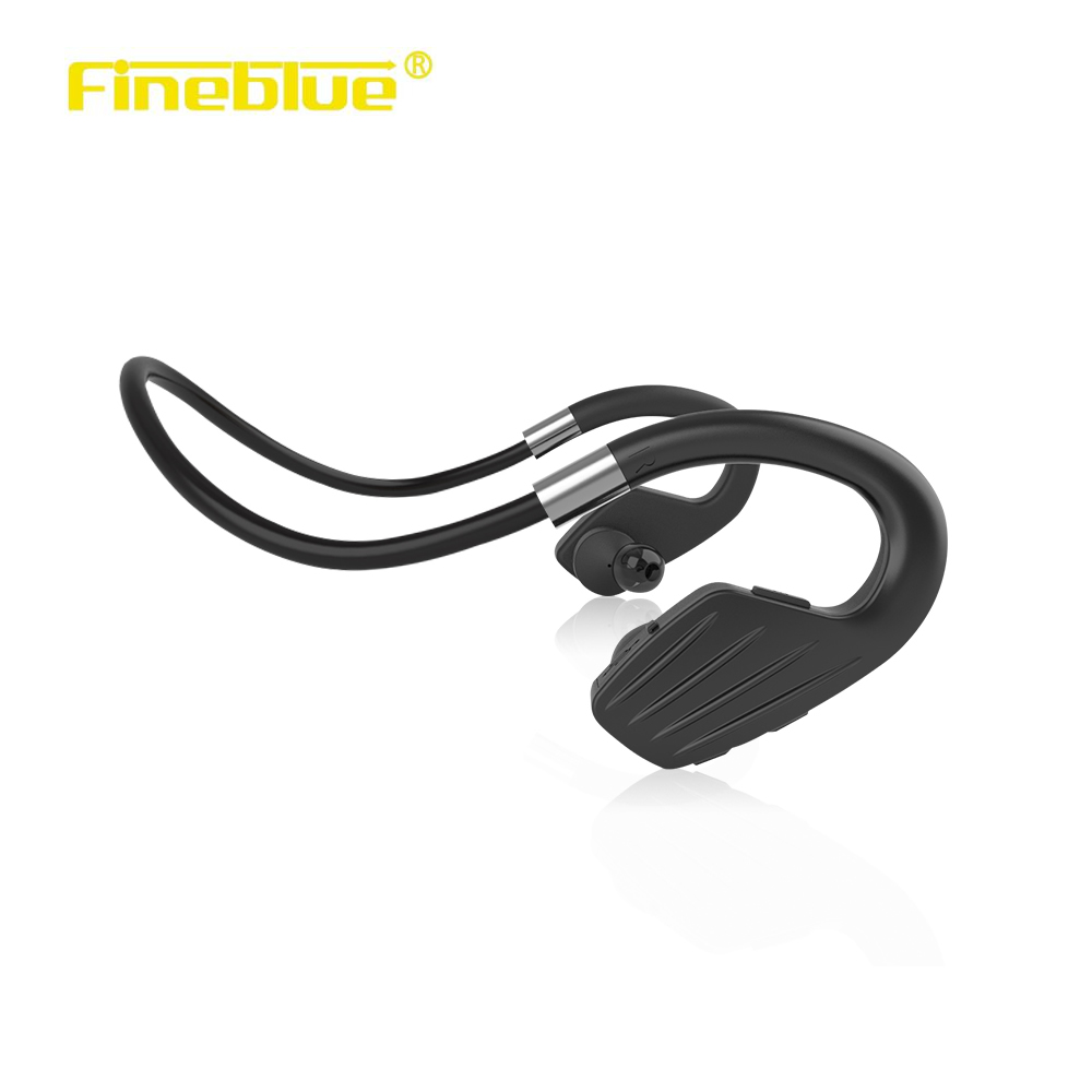 Fineblue M1 Waterproof Sports Headset Wireless Bluetooth V4.1 Earphone Ear-hook Running Headphone with Mic Music Playing