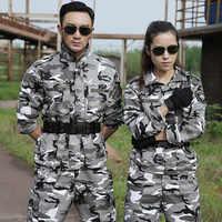 Ropa de Caza de camuflaje de nieve al aire libre para mujeres, Ropa militar para hombres, uniforme de camuflaje táctico, traje Ghillie