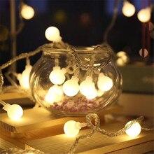 220 В, 5 м, 28 светодиодный светильник в виде вишневых шариков, гирлянда, светодиодный, рождественские украшения, праздничная, уличная, свадебная гирлянда Hom