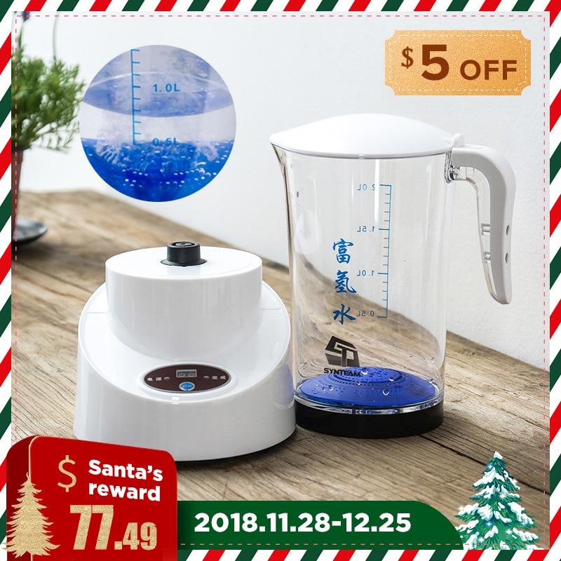 SYNTEAM Hydrogen Water Generator Hydrogen Water Maker Alkaline Water Ionizer Kettle 2000ml HEALTH CARE PRODUCT 100