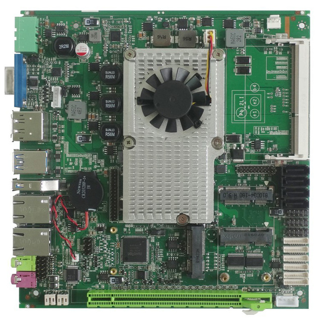 جزءا لا يتجزأ من اللوحة الرئيسية إنتل كور i5 3210M المعالج بدون مروحة لوحة رئيسية ITX الصناعية