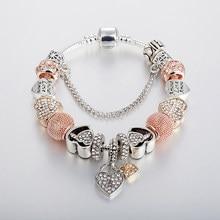 Annapaer moda luxo strass contas encantos na moda retro contas apto pan pulseiras pulseiras pulseiras pingente original b17124