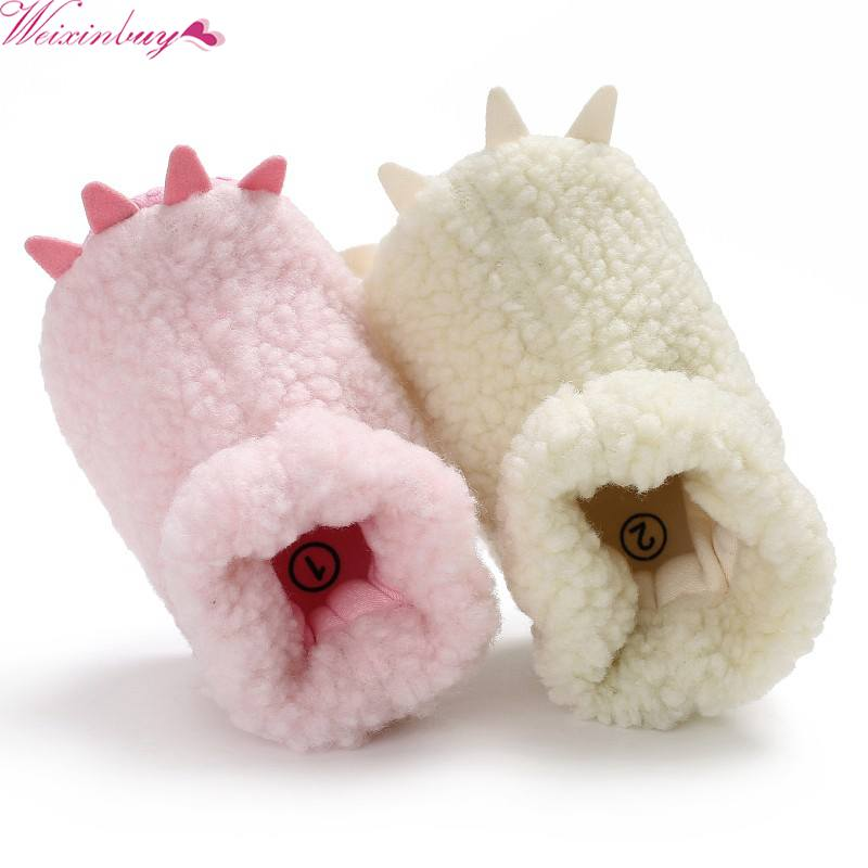 WEIXINBUY Spring Autumn Winter First Walkers Newborn Infant Toddler Monster Paw Baby Boys Girls Shoes