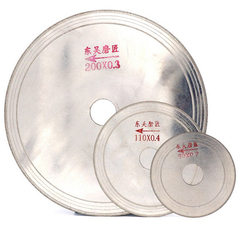 3/4/5/6/8 inch Ultra-thin Diamond Saw Blade Cutting Arbor Disc Stone Agate Cut Jade Cutting Disc 2 pcs super thin sintered diamond blade cutting disc for jade agate stone wet grinding with cooling water jgs031