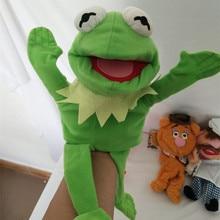 Muppets кукольный Kermit лягушка Fozzie медведь шведский шеф повар Miss Piggy Gonzo плюшевые 28 см куклы для театра марионеток для маленьких детей Детские игрушки