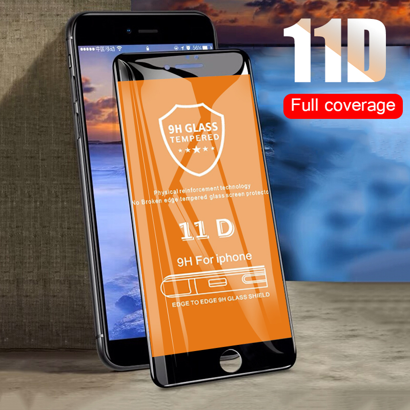 11D Curved Full Tempered Screen Glass For iphone 7 8 6 6s
