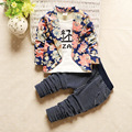 2016 New Children's Clothing Baby Boy Fall Suit Long-sleeved Clothes Pants + Coat 1-4 Years Old