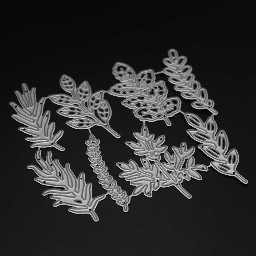 8 sztuk kwiat liście metalu wykrojniki rękodzieło Scrapbook umiera powitanie robienie kartek 3D znaczek DIY dekoracja zdjęcia wytłaczanie nowe