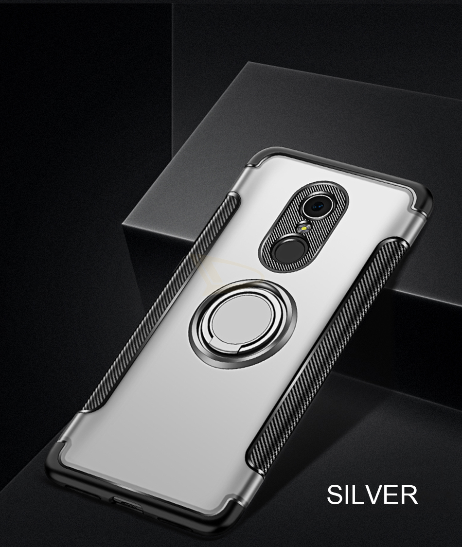 HTB1ZQMZc6bguuRkHFrdq6z.LFXaW Luxury Soft Shockproof Case For Xiaomi Redmi 4X Note 4 4X Full Cover For Redmi 5 PLus Note 7 Pro 6 6A Hard PC Bracket Ring Cases
