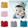 Coroa Tiara Crianças Infantil Crochet Knit Headband cap chapéu do bebê festa de aniversário adereços Fotografia Beanie Bonnet