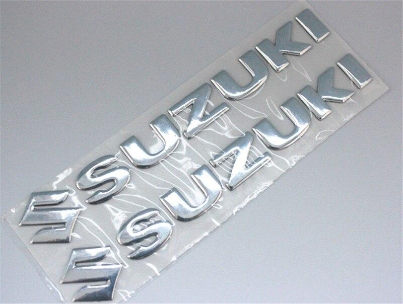 Мотоциклов эмблемы Наклейка 3d танк колеса логотип s Стикеры для Suzuki gsx-r 600 750 1000 Sv Gsf bandit Dl 1000 Vl Sfv