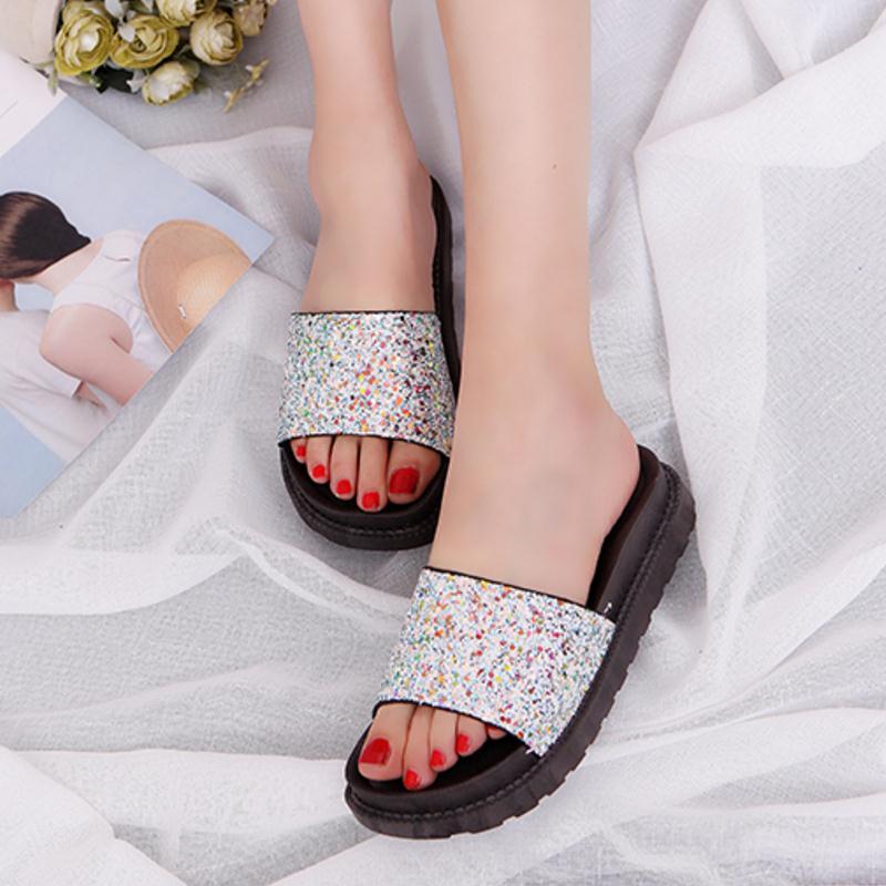 Women Wedge Sandals Fashion Slippers Peep Toe Sandals Trifle Stylish ... fa2c651d29f2