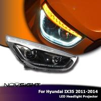 Novsight 2x LED Фары для автомобиля сборки проектора DRL противотуманных фар Аксессуары для автомобильного освещения для Hyundai ix35 2011 2014