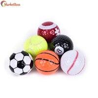 6 Stücke Golfbälle (Basketball, Fußball, Volleyball, Tennis, Baseball, 8-Ball) doppel-schicht sport Praxis Bälle Golfbälle Geschenk