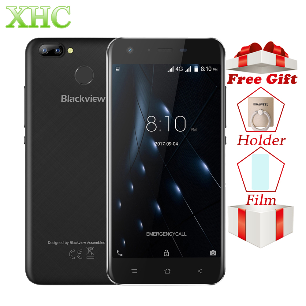 "4G LTE Blackview A7 Pro Mobile Phones 2GB+16GB Dual Back Cameras 5.0"" Android 7.0 MTK6737 Quad Core Dual SIM FOTA Smart Phones"
