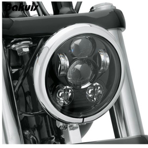 """Bakuis 5.75"""" 5-3/4"""" Motorcycle Projector 45W LED Lamp Headlight For Harley Sportster 883 1200, Iron 883, Dyna, Street Bob FXDB(China)"""