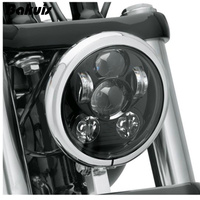 Bakuis 5.75 5 3/4 Motorcycle Projector 45W LED Lamp Headlight For Harley Sportster 883 1200, Iron 883, Dyna, Street Bob FXDB