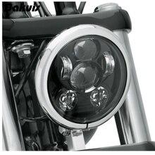 "Bakuis 5.75 ""5 3/4"" Motorcycle Projector 45W Led Lamp Koplamp Voor Harley Sportster 883 1200, ijzer 883, Dyna, Straat Bob Fxdb"