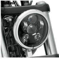 """Bakuis 5,75 """"5-3/4"""" Motorrad Projektor 45 watt LED Lampe Scheinwerfer Für Harley Sportster 883 1200, eisen 883, Dyna, Street Bob FXDB"""