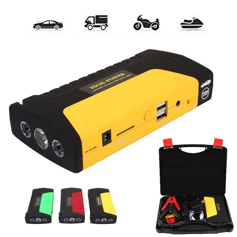 VEHEMO voiture batterie saut démarreur 50800 mah bloc d'alimentation de secours 12 V Portable chargeur portatif batterie chargeur avec lumière USB SOS