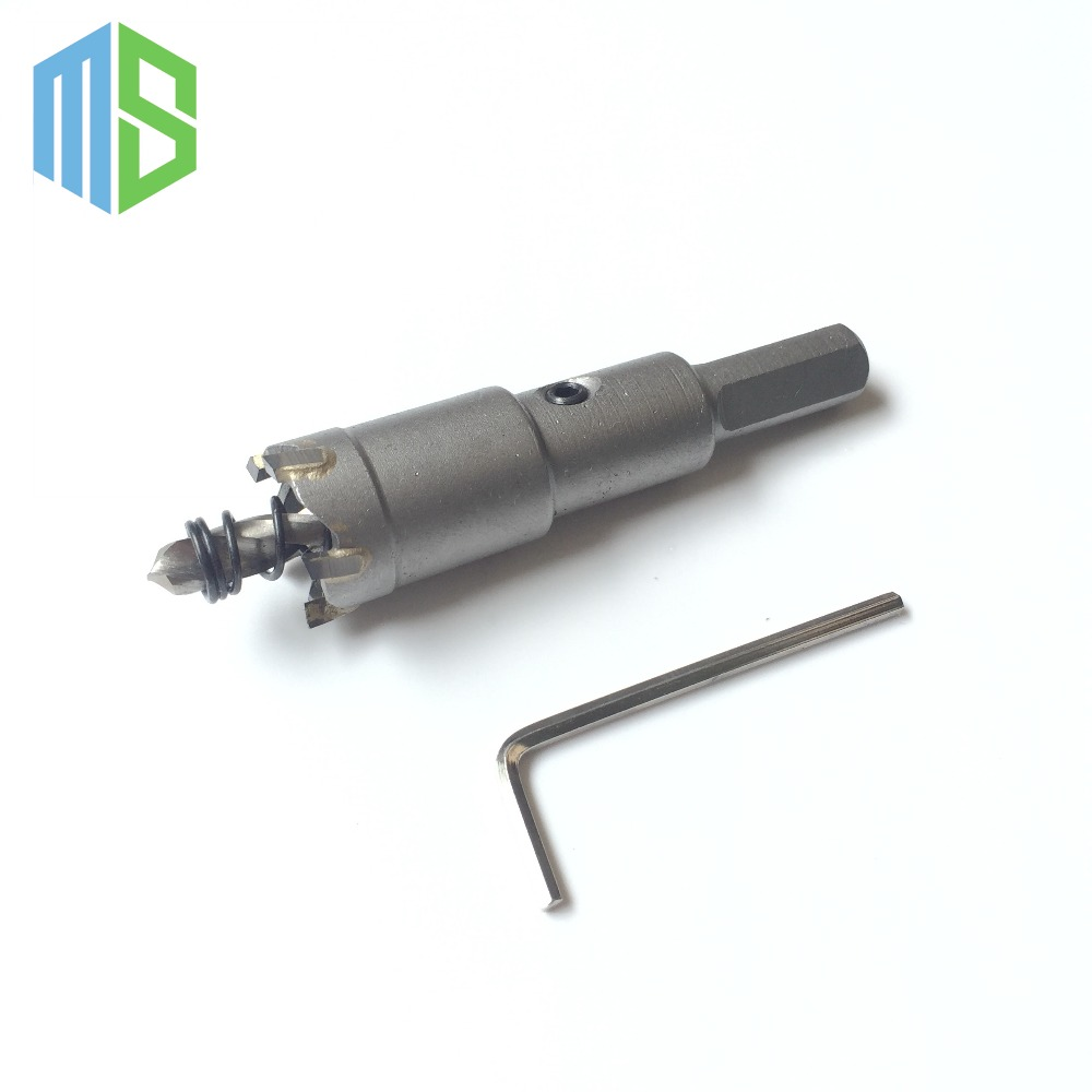 20mm Metalworking tungsten Carbide Tip Drill Bit TCT Hole Saw Set for Stainless Steel Metal Alloy Drilling