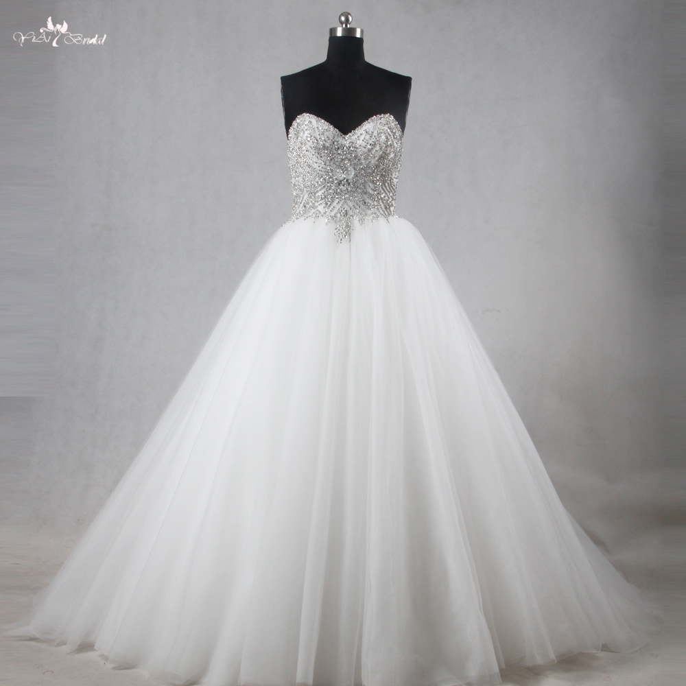 RSW1120 Real Pictures Diamonds Crystal Wedding Dresses-in ...