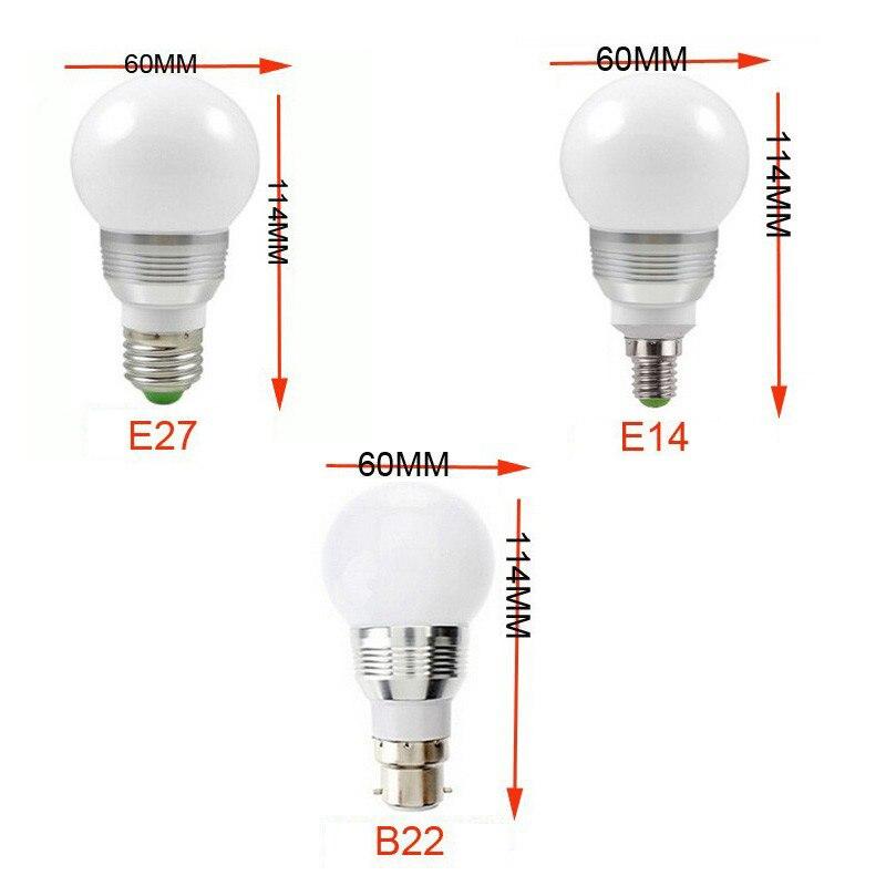 E27 E14 B22 светодиодный лампа с ИК-пульт Сменные RGB Цвет AC 110 В 220 В 9 Вт энергосбережения 16 Цвета Светодиодный лампочки DA