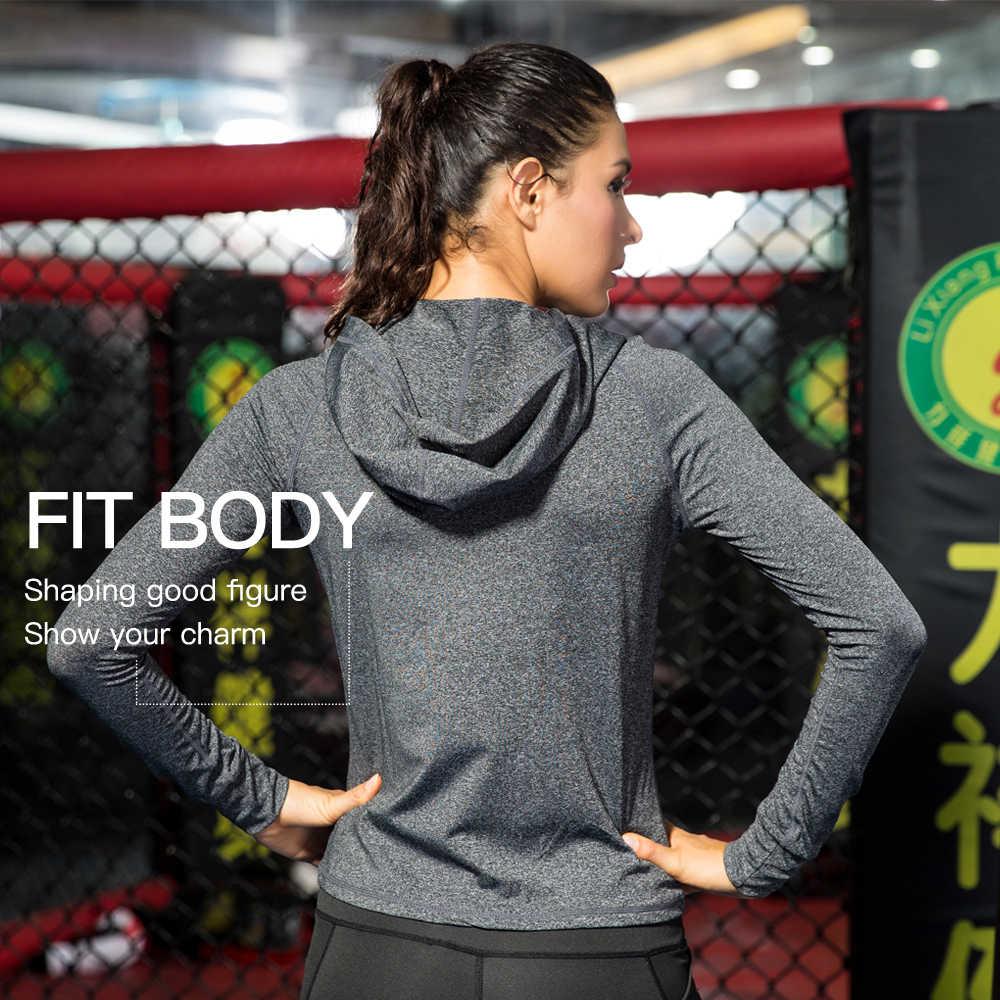 Queshark Женская куртка для бега фитнес Йога тренировочная куртка на молнии Спортивная Толстовка рубашка быстросохнущая Спортивная одежда для бега