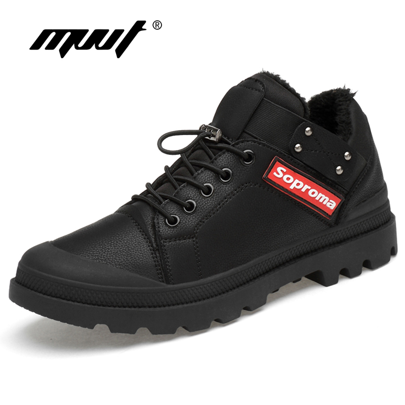 MVVT Winter Shoes Keep Warm Men Shoes With Fur High Quality Microfiber Leather Casual Shoes Fashion Snow Shoes Footwear генератор lifan 2gf 4 бензиновый 220в 2 2 2квт 6 5лс