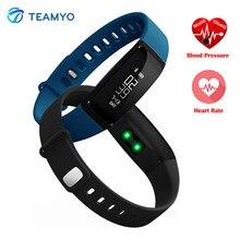 Teamyo V07 смарт-браслет Приборы для измерения артериального давления часы с Heart Rate Фитнес трекер Браслет сна Мониторы Смарт-часы Android IOS