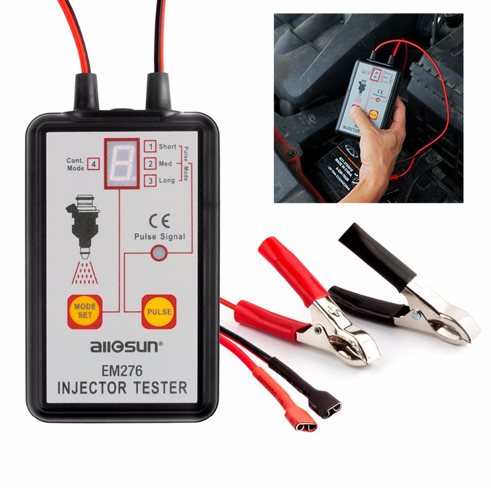 Fuel Injector Tester EM276 Car Car Fuel Injector System Analyzer Scan Tool with 4 Pluse Modes in Electrical Testers Test Leads from Automobiles Motorcycles